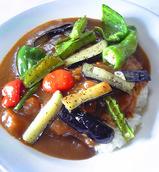 秋の夏野菜カレー
