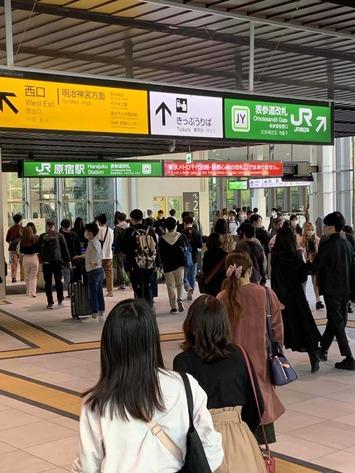 new原宿駅2020.10.24