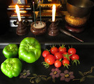 お盆自作野菜でお迎え2014.08.13.jpg