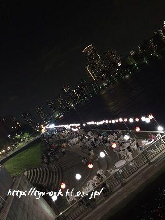 隅田川テラスで何かやってる? @聖路加ガーデン