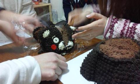 【日常】ケーキ入刀
