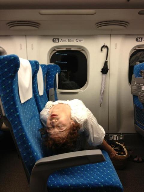 【日常】新幹線なう、隣がやばいwwww怖いわwww