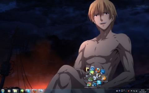 【fate/Zero】王たる我のデスクトップ