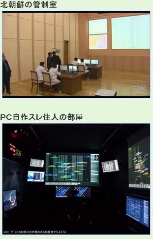 北朝鮮の発射制御室と2ちゃんPC自作板住民の部屋比較
