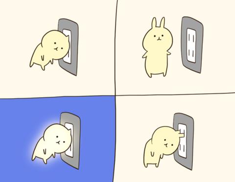 【ほっこり】充電うさぎ