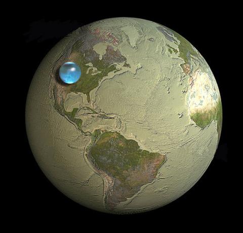 【自然】地球上にあるすべての水を集めて球にしたら、これくらい