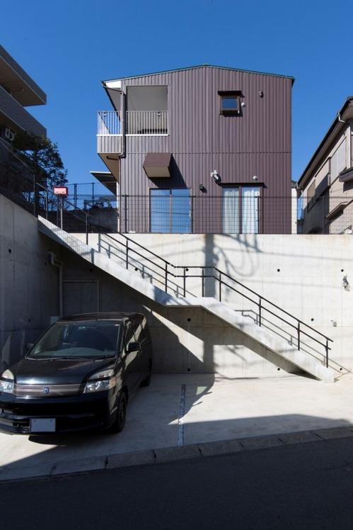 千葉県傾斜地住宅「三層のいえ」