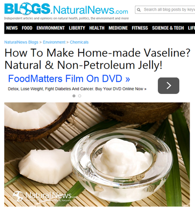Home-made Vaseline