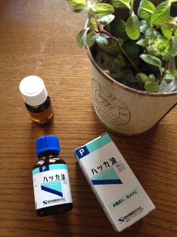 """【和種のミント""""はっか油""""を知ってます?】前田京子さんの本『はっか油の愉しみ』で知りました! 高価なペパーミント精油より断然安いから、バンバン使えます☆"""