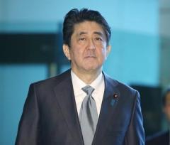 新元号発表、安倍首相が前面=官邸で予行演習