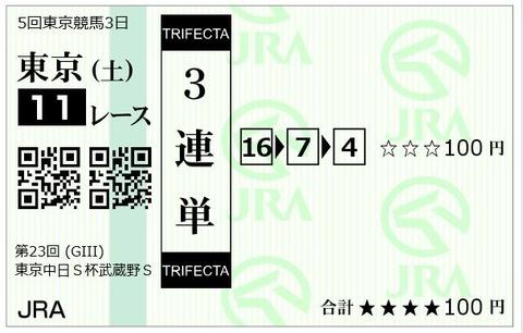 武蔵野S三連単