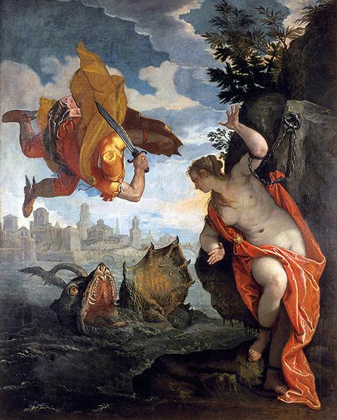 『アンドロメダを救うペルセウス』パオロ・ヴェロネーゼ