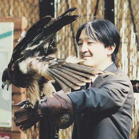 文仁親王と鷲