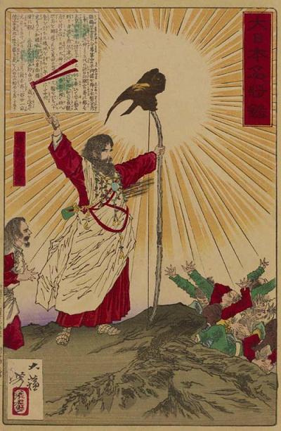 神武天皇(月岡芳年 画)