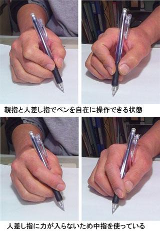 ペンの持ち方