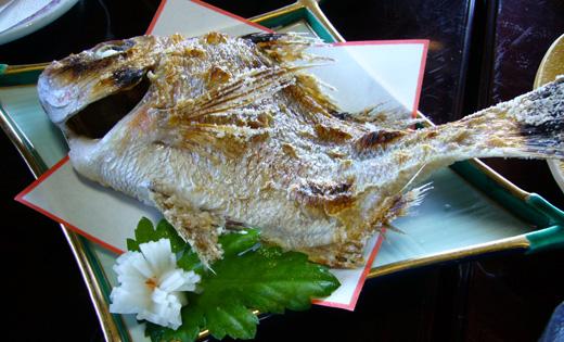 能登島 梅屋旅館のお料理