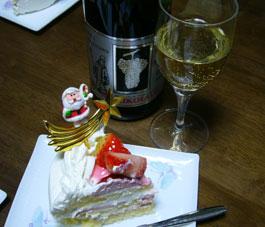 ドイツのワインとケーキ