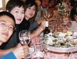 1999年ボルドーにて牡蠣と白ワイン