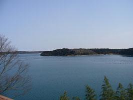 中島から見る七尾湾