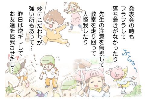 3)養護学校の先生に育児相談