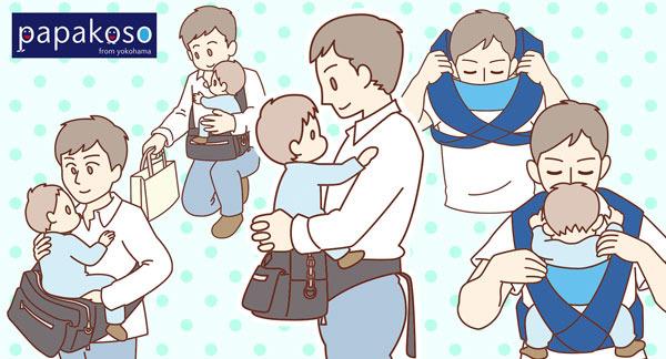 雑誌掲載と育児グッズ取説イラスト