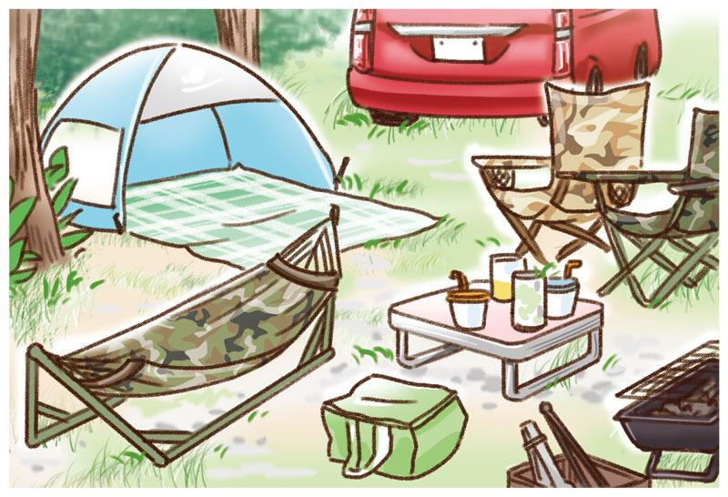 キャンプ ゆむい