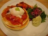 パンケーキママ・カフェ とろとろ温泉卵とたっぷり野菜の