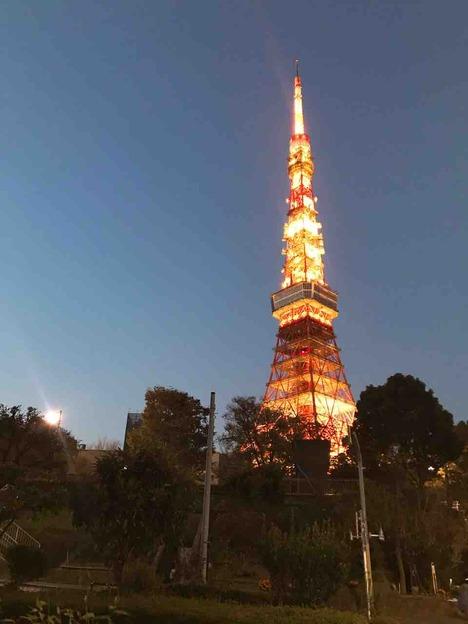 17時の東京タワー