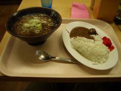 蕎麦とカレーのセット