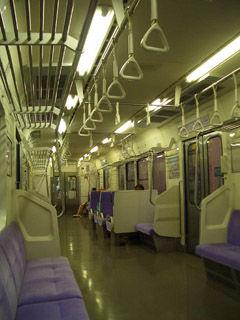 E127系電車車内(客席)