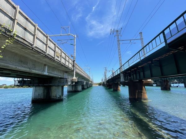新幹線と在来線橋