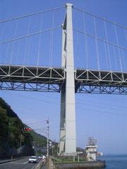 国道9号線から関門橋