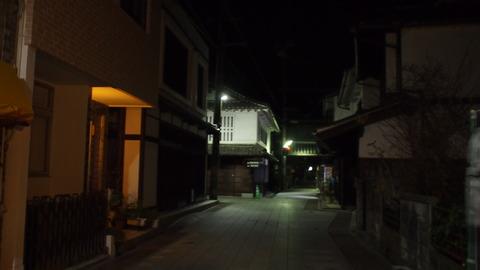 夜の竹原・旧笠井邸前