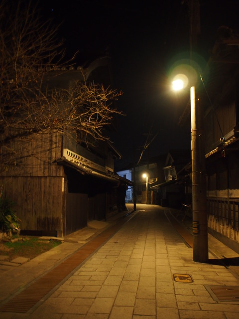 夜の竹原・町並み保存区3
