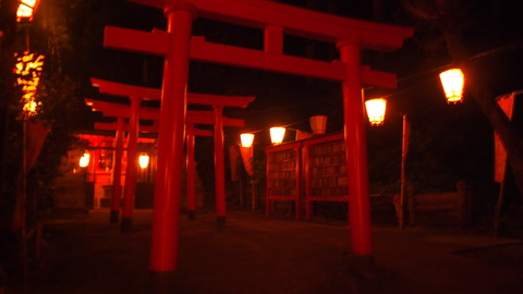54ぼんぼり点灯(湯涌稲荷神社)