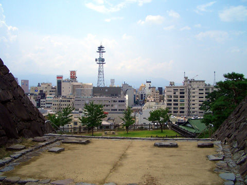 甲府城本丸からの景色1