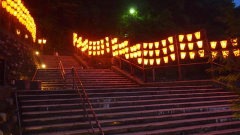38ぼんぼり点灯(野外ステージ広場)