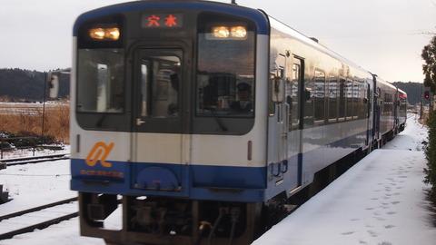 のと鉄道3両編成(能登中島駅)
