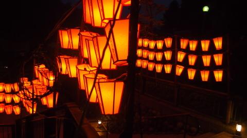 50ぼんぼり点灯(野外ステージ)