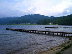 木崎湖桟橋1