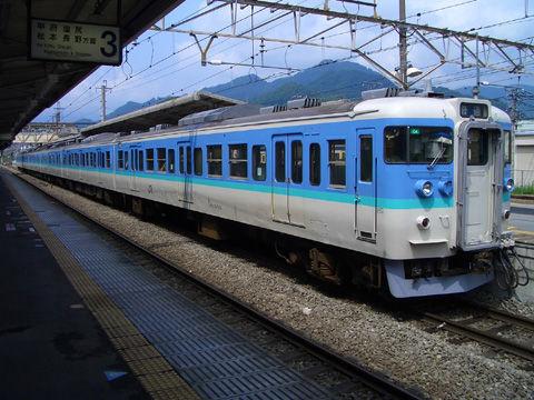 中央本線115系電車(大月駅にて)