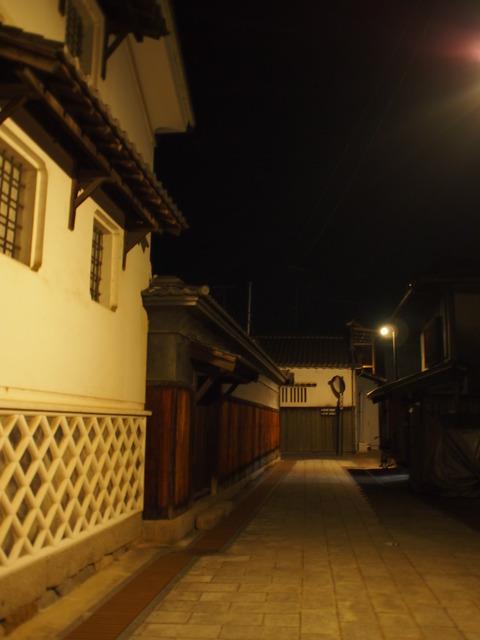 夜の竹原・町並み保存区2