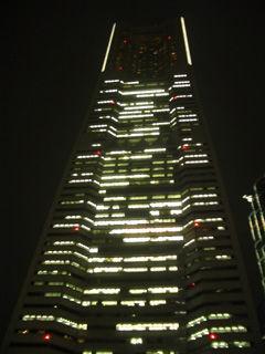 夜の横浜ランドマークタワー