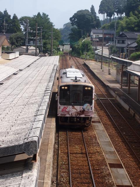 05花咲くいろは列車(穴水駅)