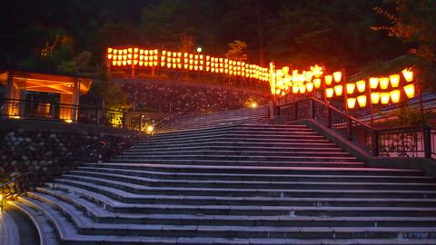 35ぼんぼり点灯(野外ステージ広場)