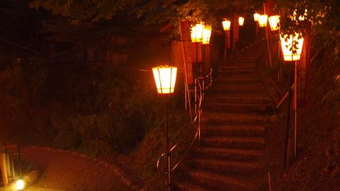 49ぼんぼり点灯(湯涌稲荷神社)