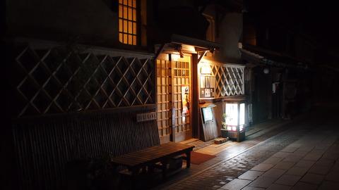 夜の竹原・ほり川前