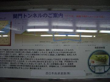 関門トンネル人道案内パネル