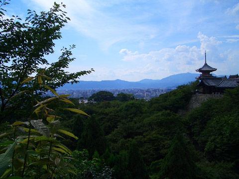 清水寺から京都市内を展望する