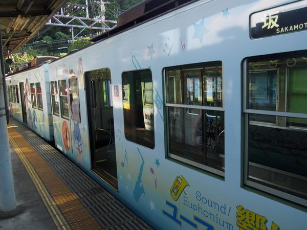 響け!ユーフォニアム列車【石山寺駅・側面2】 (4)